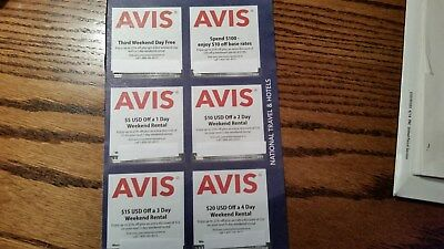 Avis Car Rental Coupons     Expires Dec  31  2018