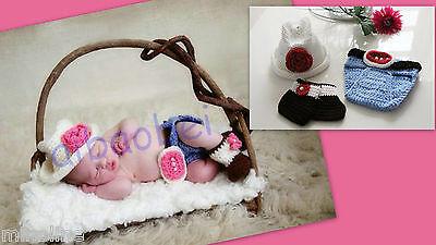 ★★★ NEU Baby Fotoshooting Kostüm Kleine Farmerin Cowgirl 0-6 Monate ★★★F1 ()