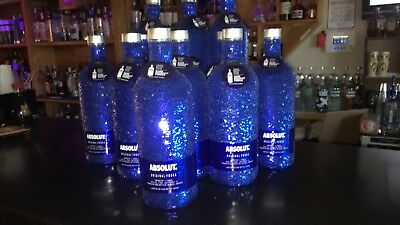 Absolut Vodka Sequin Blue Skin , neck tag ,Limited Edition 1000 ML size