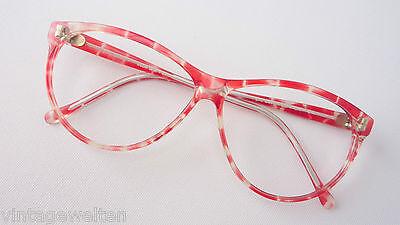 Pro Design große Cateyebrille rot für Frauen oversized 70s flippig BOHO Grösse L