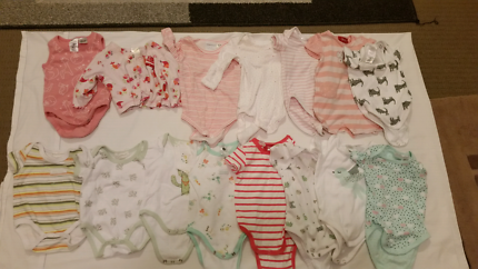 Girl baby clothes 000 and 00.  $30 the lot.