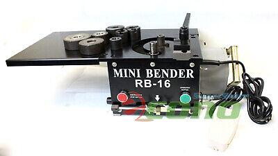 Rb16 Mini Tabletop 1200w Electric Hydraulic Rebar Bender 16mm Rebar Rod 0 180