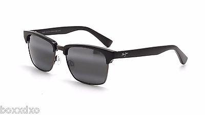 Maui Jim Sunglasses 257-17C Kawika Black Gloss Pewter Frame Polarized Mens Women
