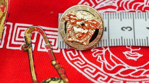 💋💅💜 100% VERSACE button 1 pieces    MEDUSA HEAD Gold Tone metal size 18 mm