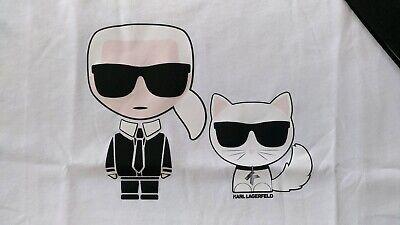 KARL LAGERFELD & CHOUPETTE Ikonik T Shirt TOP XL LETZTE KOLLEKTION weiß NP139€
