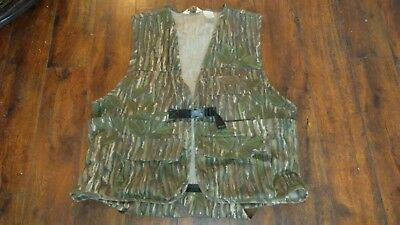 VTG WALLS Camo Hunting Vest with SEAT Bird / Deer – Pheasant Size XL