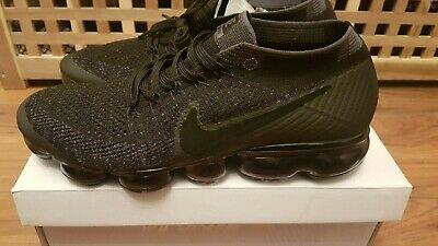 Nike Air VaporMax Flyknit, Black Anthracite, Dark Grey - UK Size 9