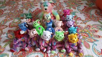 - Collection of TY Birthday Beanies and Buddy, including BB Bear Beaning Baby
