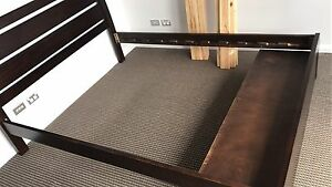 Solid wood queen size bed for sale Turrella Rockdale Area Preview