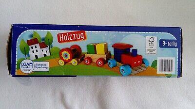 2 in 1 -Kleinkind Spielzeug Holz Zug+Steckspiel Alter 1-3 Jahre
