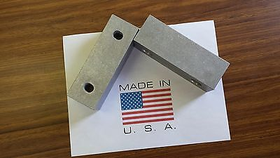 6 X 2 X 2 Vise Jaw Pair-reversible Aluminum For Kurt And Most Others-usa