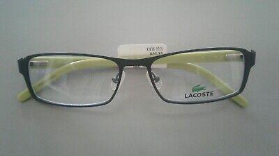 lacoste glasses men Black outer frame lime inside (Lacoste Glasses Frames For Men)
