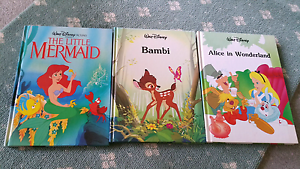 Disney books - Bambi, little mermaid, Alice in wonderland Camberwell Boroondara Area Preview