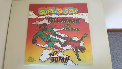 Vinyl Reggae Record Super Star Yellowman has Arrived withToyan