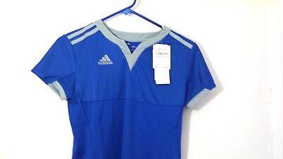 - Adidas Performance Soccer Womens Climacool Tiro 15 Jersey Top Main Blue Sz XS