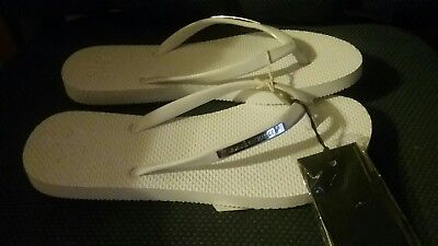 Armani Exchange Solid Rubber Flip-Flops size 6,5 new with tags