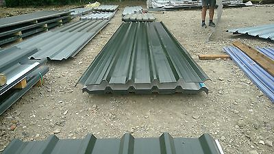 new polyester coated juniper green box profile roofing sheets 14ft price inc vat