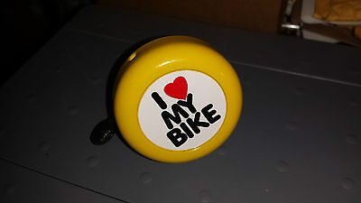 F&R Bicycle Bell-metal top with adjustable strap-Yellow