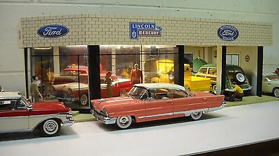 Ford Mercury Lincoln Vintage Car Dealership Diorama 1/24th 1/25th scale!!