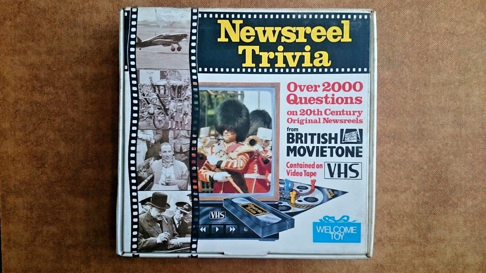 Vintage Newsreel Trivia  Game By the Toy Company Ltd (1986)