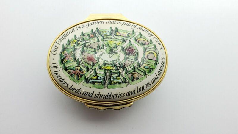 Halcyon Days  Enamel Box, The Glory of the Garden Rudyard Kipling