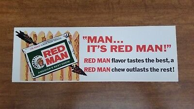 Vintage Red Man Chewing Tobacco Sign