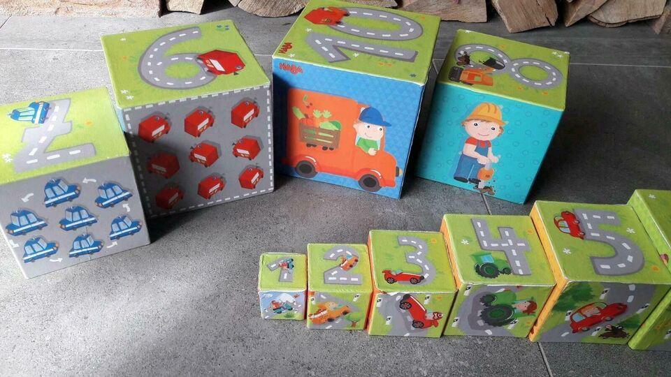 Spielzeug, Stapelwürfel der Marke HABA, in Sindelfingen
