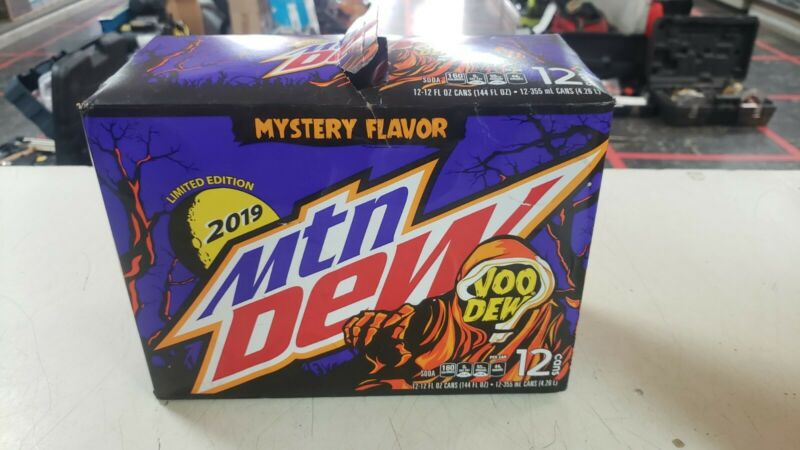 Mountain Dew VooDew Cans *RARE 2019* 12 Pack Case sealed