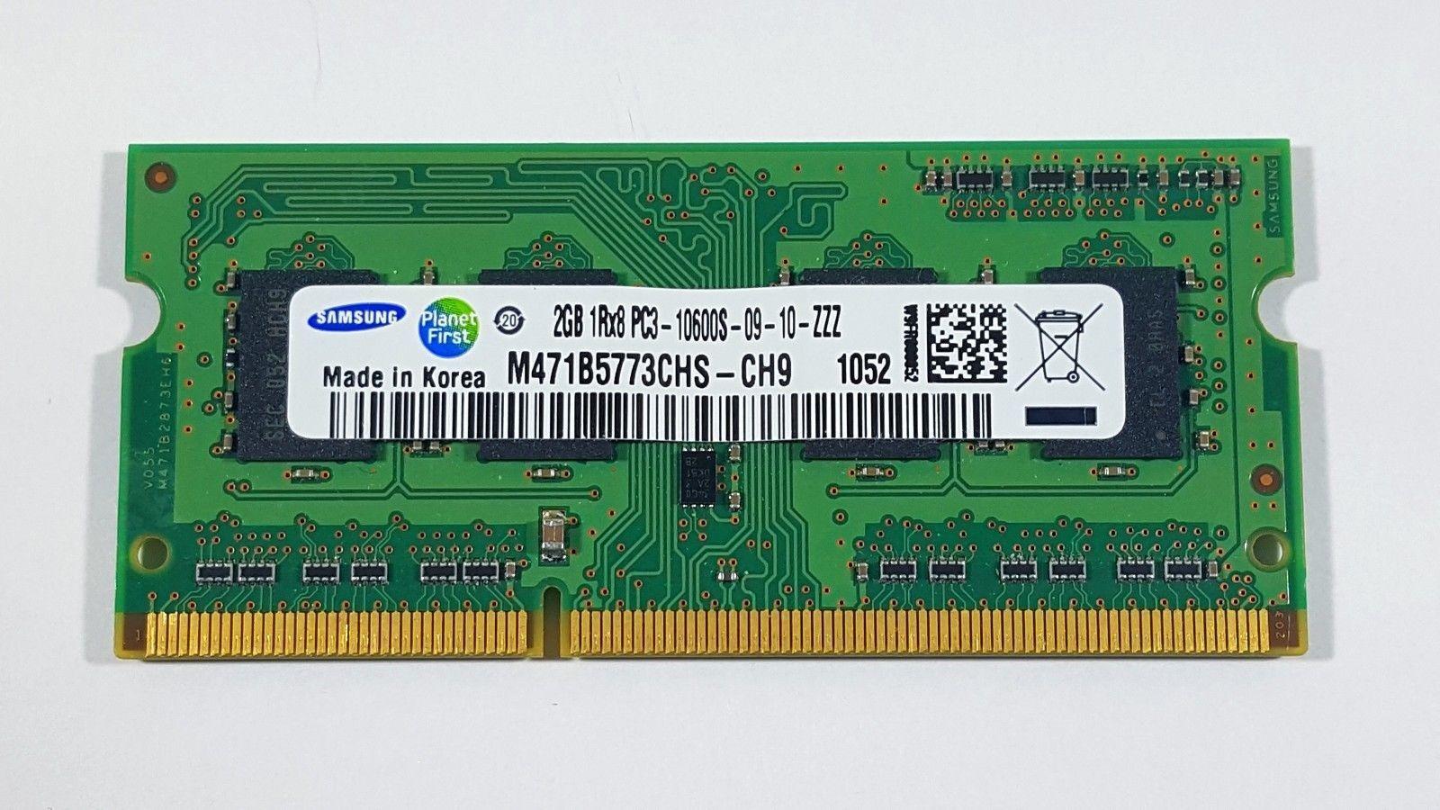 RAM MEMORIA 2GB 1Rx8 PC3-10600S 1333MHz DDR3 SODIMM NOTEBOOK PORTATILE LAPTOP