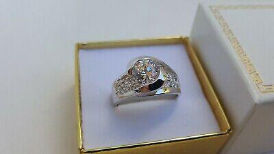 Beautiful Ladies Fine Estate Jewelry HSN Sterling Silver CZ Gemstone Ring Sz 10