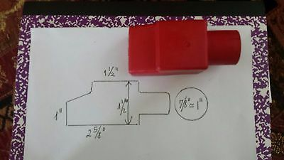 """BOAT BATTERY TERMINAL COVER / BOOT  covers RED   cable size 7/8"""" -1"""""""