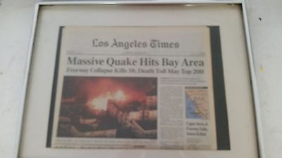 1989 Huge Earthquake Near San Francisco   La Times Newspaper In California
