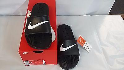 NIKE Kawa Shower 832528 001 black white Men's Slide Sandal  Fast shipping  OH