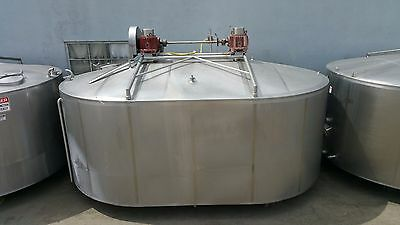 Damrow 5000 Gallon Double-o Cheese Vat Stainless Steel Jacketed Tank W Mixers