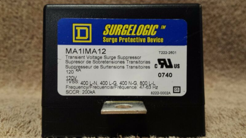 Surgelogic Surge Protection Device Type MA Square D 8222-0002A