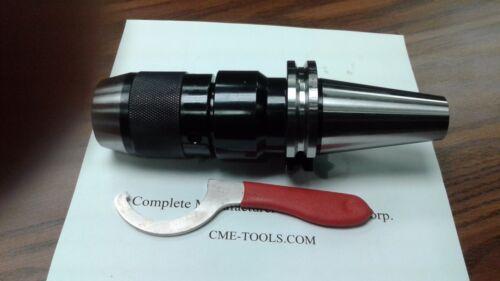 """1/2"""" CAT40 Ball Bearing Keyless Drill Chuck Integral shank design #DCK-CAT40-12"""