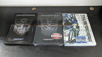 Transformers exclusive steelbook DVD lot protect destroy Autobot Decepticon