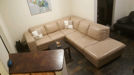 Beautiful FREEDOM genuine leather,corner modular lounge RRP$4900
