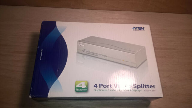 NEW in Box ATEN VS-94A 60HZ 4 PORT VGA Monitor VIDEO SPLITTER DUPLICATOR