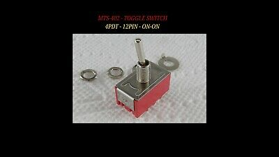 4pdt Mini Toggle Switch On-on12pin Solder Lugs Mts-402 High Quality - Usa