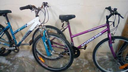 Two bikes adult size