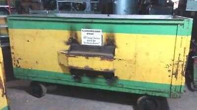 Heavy Duty Steel Industrial Tug Tractor Tow Gondola Cart. Interior 8ft X 4ft X 4