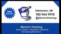 •Painting Service Offered at the Lowest Rates