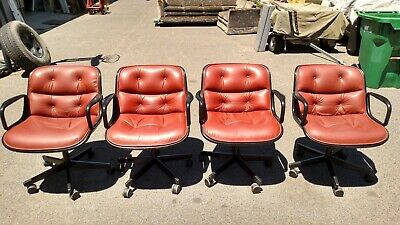 Vintage Knoll Conferenceguest Side Chairs Set Of 4 We Deliever Locally Nor Ca