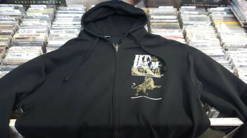 BETWEEN THE BURIED AND ME - GOLD LION - ZIP UP HOODIE  - NEW  (OUT OF PRINT)