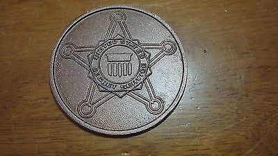 UNITED STATES SECRET SERVICE BRASS EM BLAME POLICE FEDERAL SECRET SERVICE BX C 2