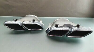 Orig. Mercedes AMG W167 C167 X290 Auspuff Blende Set Chrom A00049018 A00049019