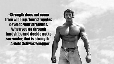 Arnold Schwarzenegger Inspiration Bodybuilding Poster 43 Inch X 24 Inch   24
