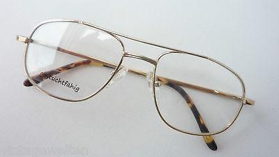 Sturdy Glasses Frames Aviator Men's Uni Gold Decent with Federbügel Size (Sturdy Eyeglass Frames)