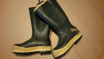 8 Narrow Ranger Firefighting Protective Steel Toe Rubber Boot Turnout Gear 35a